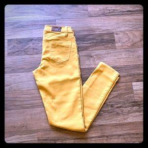 Express yellow denim